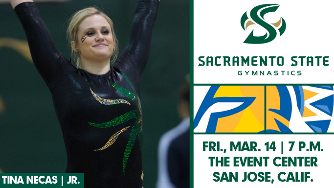 GYMNASTICS CLOSES REGULAR SEASON AT SAN JOSE STATE ON FRIDAY