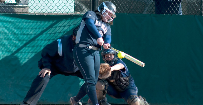 Softball Splits Doubleheader at Scranton, Winning Opener 15-0