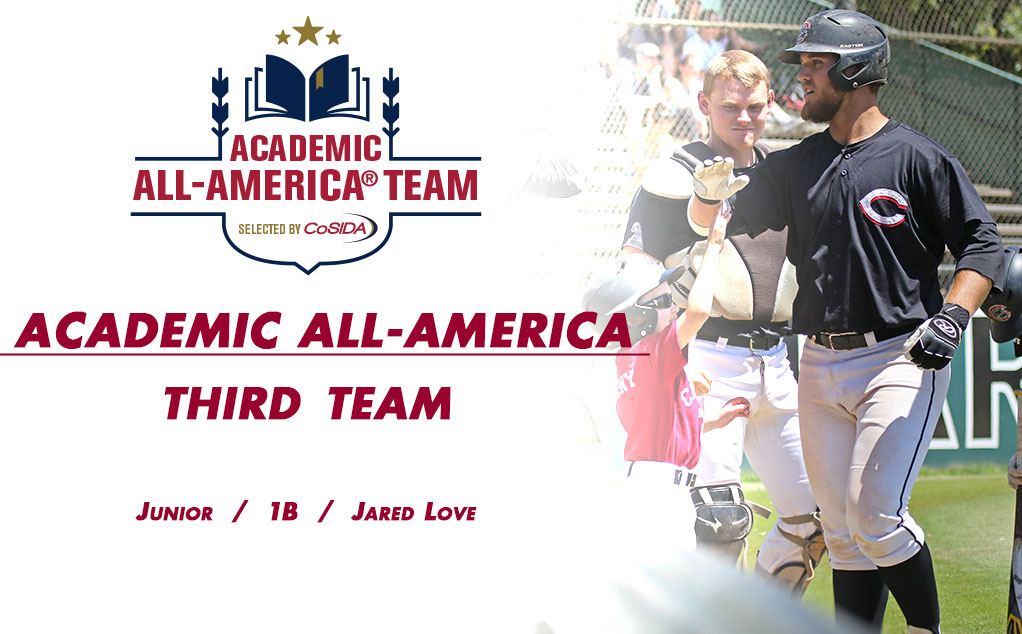 Love honored as Academic All-American