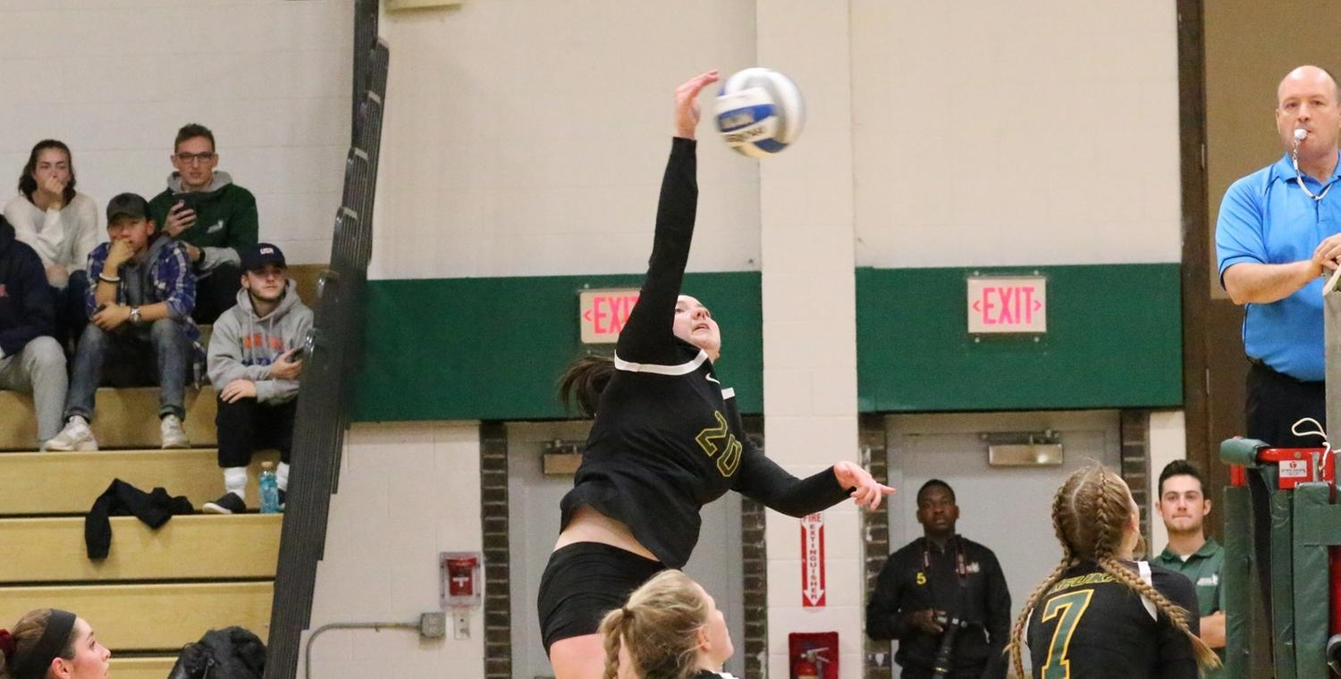Lauren Moelbert (20) led the Wolves with 11 kills on Wednesday -- Photo by Ed Webber
