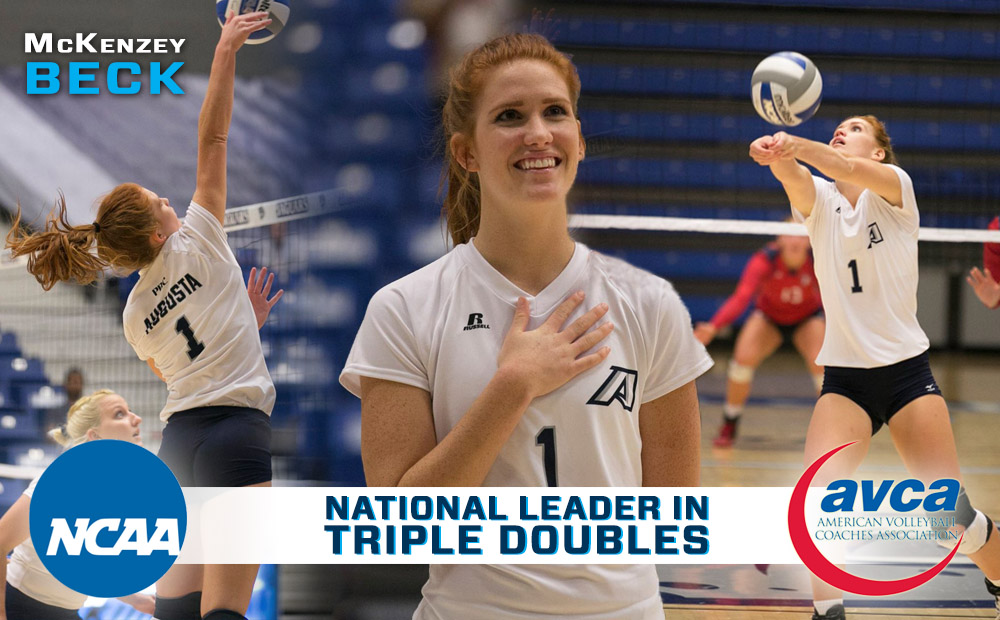 Beck Named AVCA All-Region, Led Nation In Triple-Doubles