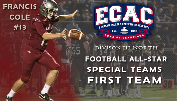Cole Named ECAC First Team All-Star
