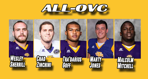 Five Golden Eagles included on all-OVC football honor squads