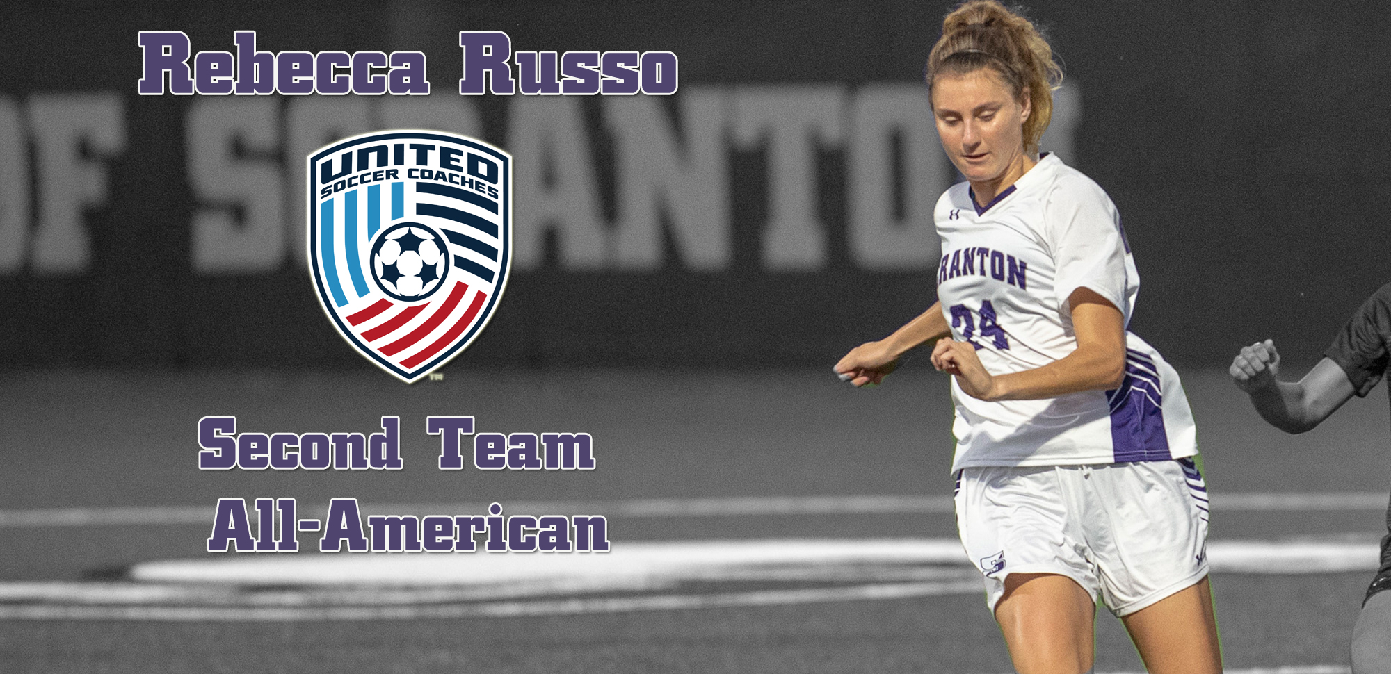 Junior Rebecca Russo is just the 13th University of Scranton women's soccer player to earn All-America honors.