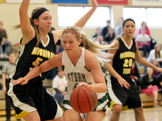 Alyssa Wagers and the Storm open GLIAC Tournament play at Michigan Tech Wednesday.