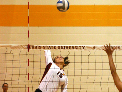Ferris State Drops Its Conference Opener In Four-Set Match