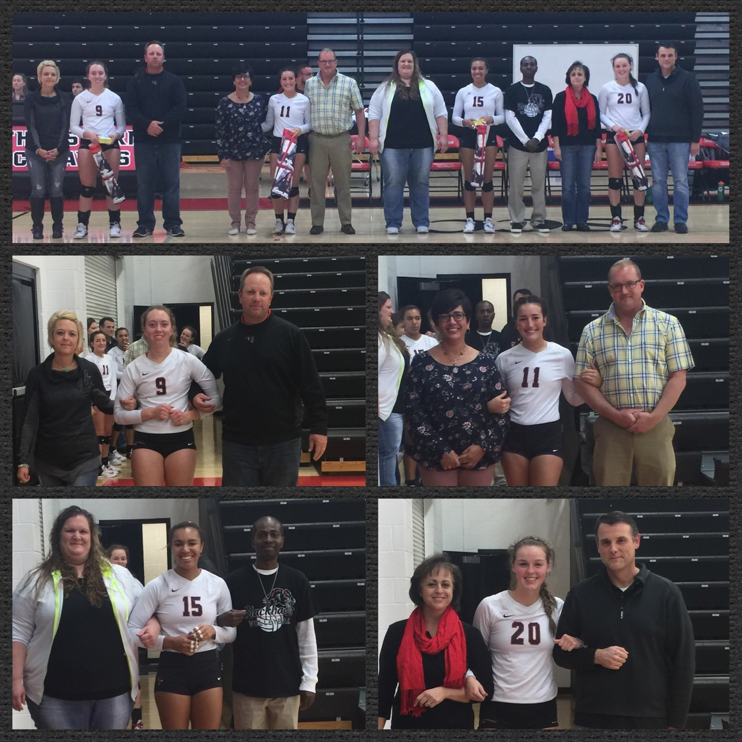 SCC Volleyball Honors Sophomores