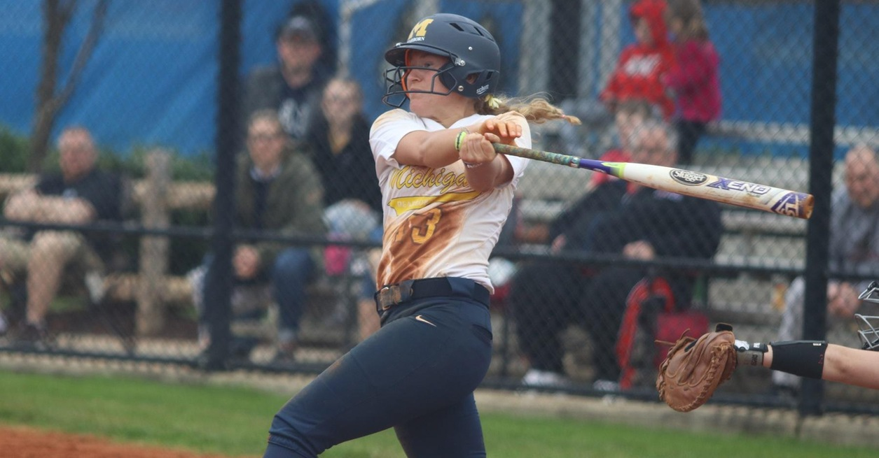 Skene's late home run leads Softball to win
