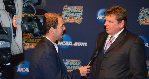 Golden Eagle head coach Steve Payne takes in 2013-14 OVC Basketball Media Day