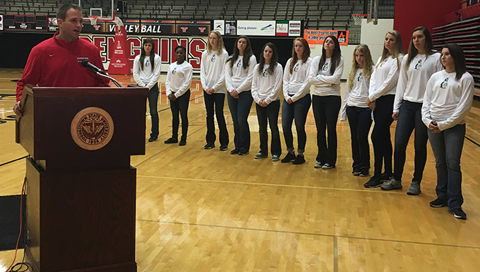 2015 Youngstown State women's basketball media day