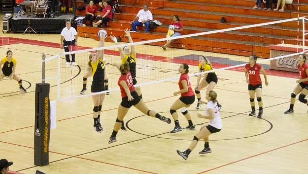 No. 4 volleyball sinks Penguins in three