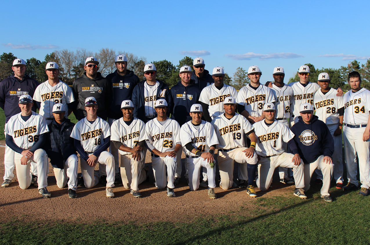 21 members of the MCC baseball team were honored prior to Tuesday's doubleheader as part of Sophomore Day