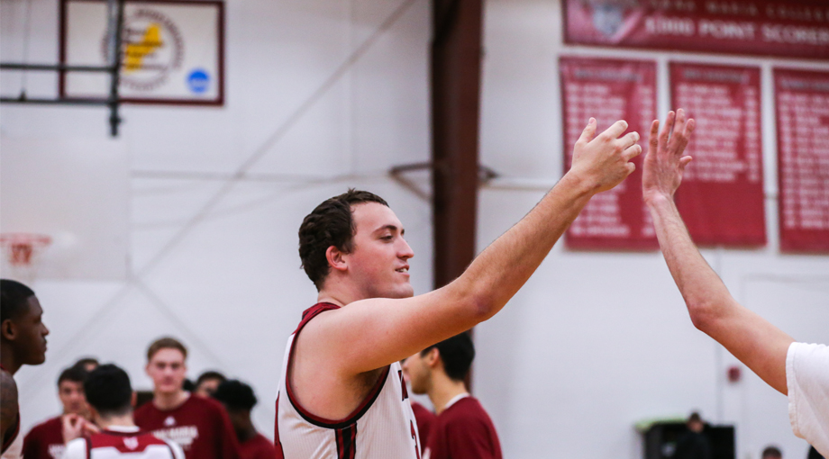 Rapoza Goes Off for 28 Points in Men's Basketball Defeat by Suffolk