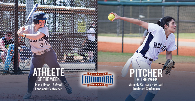 Matos & Carisone Honored as Landmark Conference Softball Athlete & Pitcher of the Week
