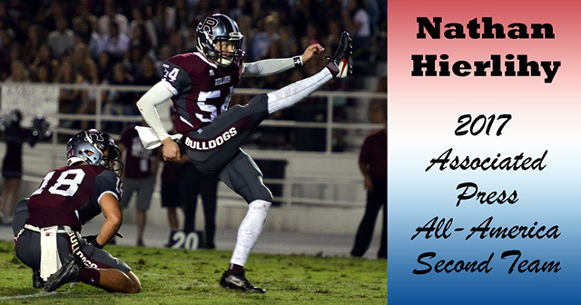 Redlands' Hierlihy Named to the Associated Press Division III All-America Football Team