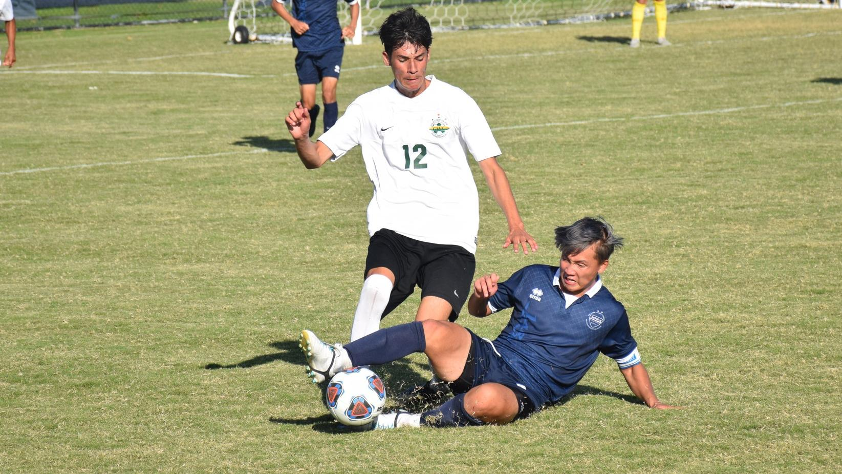 Men's soccer team battles to 1-1 draw with Golden West