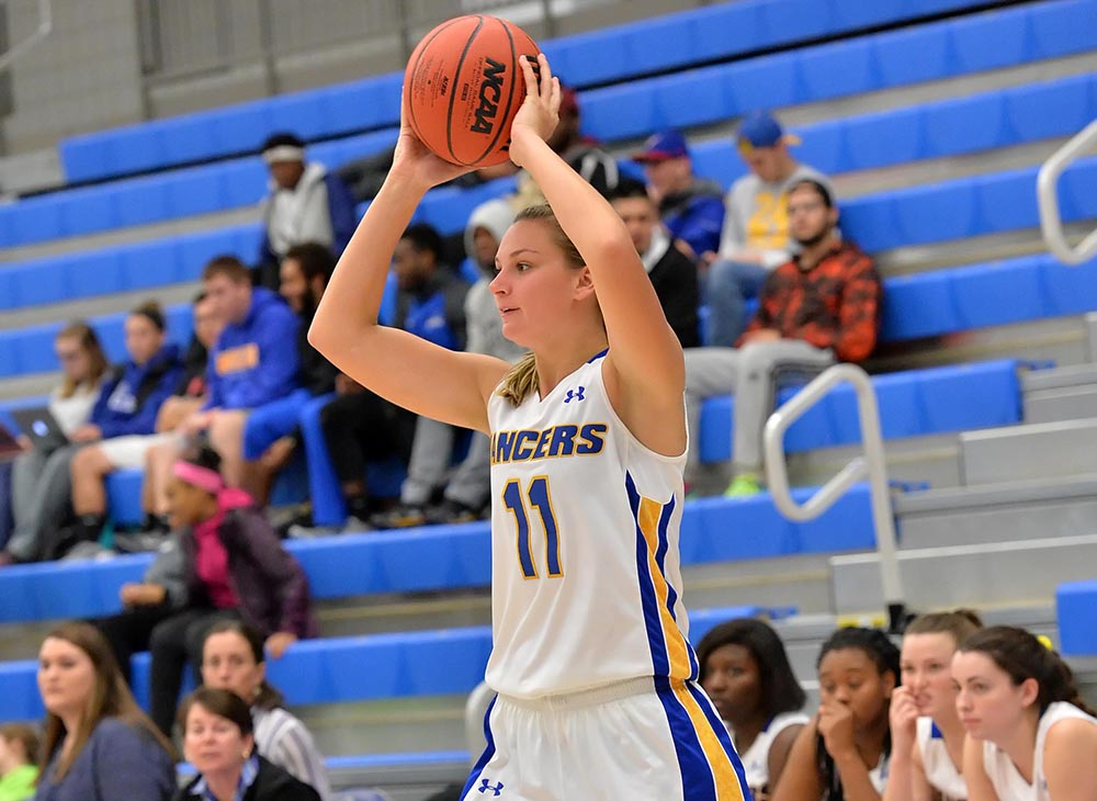 Strong Third Quarter Pushes Lancers Past Wellesley; Herring Records Double-Double in Win