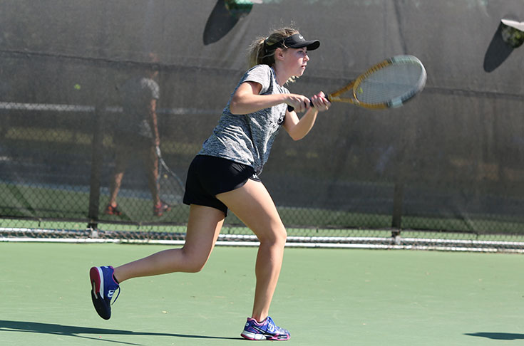 Women's Tennis: Panthers do not drop a set in sweeping Wesleyan in USA South match