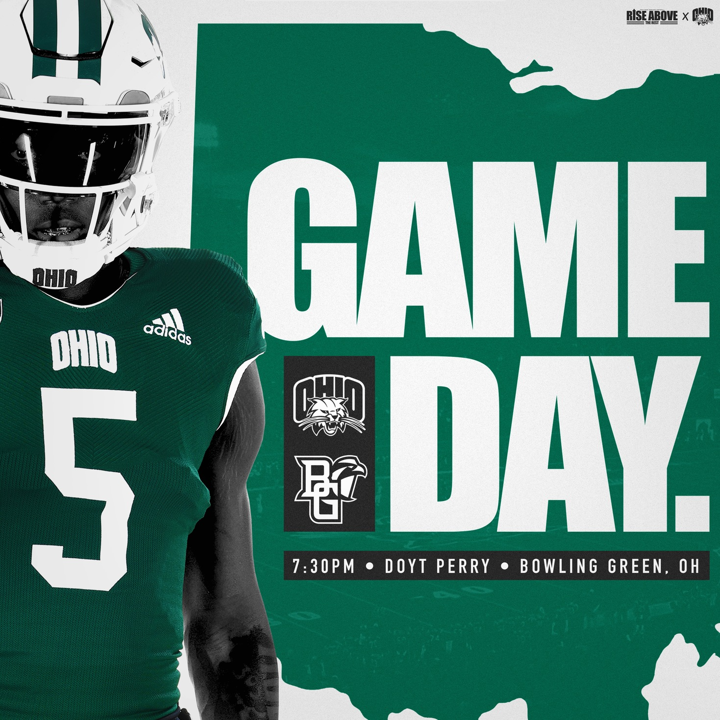 Ohio Football Visits Bowling Green on Tuesday