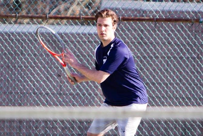 Men's Tennis Ends Drought Topping Webb, 6-3