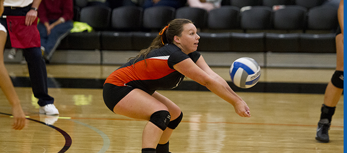 Volleyball Falls 3-1 to Linfield to Split Series