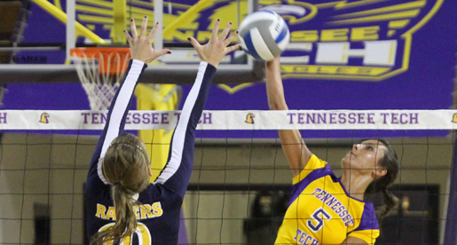 Golden Eagle volleyball team drops road match at Eastern Kentucky