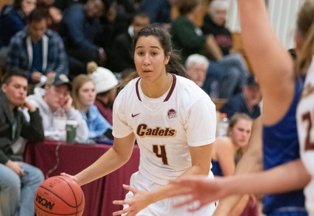 Women's Basketball: Cadets pick up conference victory over Lasell, 44-38