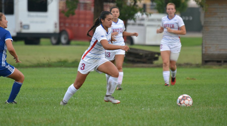Ashley Venegas had a goal and an assist in Hutch's 8-0 win over Garden City on Wednesday. The Blue Dragons are at Hesston College on Saturday. (Bre Rogers/Blue Dragon Sports Information)