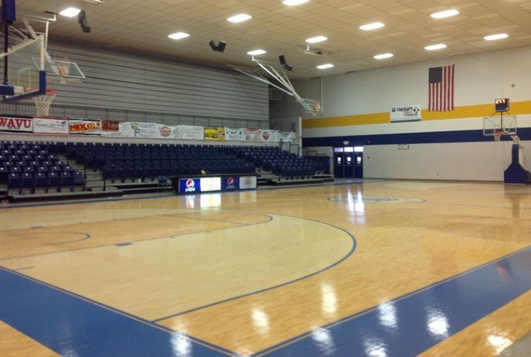 Picture of the inside of the Plunkett Wallace Gym at Snead State