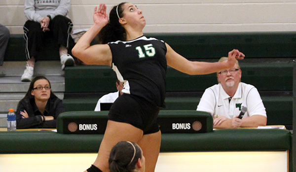 Wilmington Volleyball Takes First Set but Falls to CACC South Division Foe Philadelphia, 3-1
