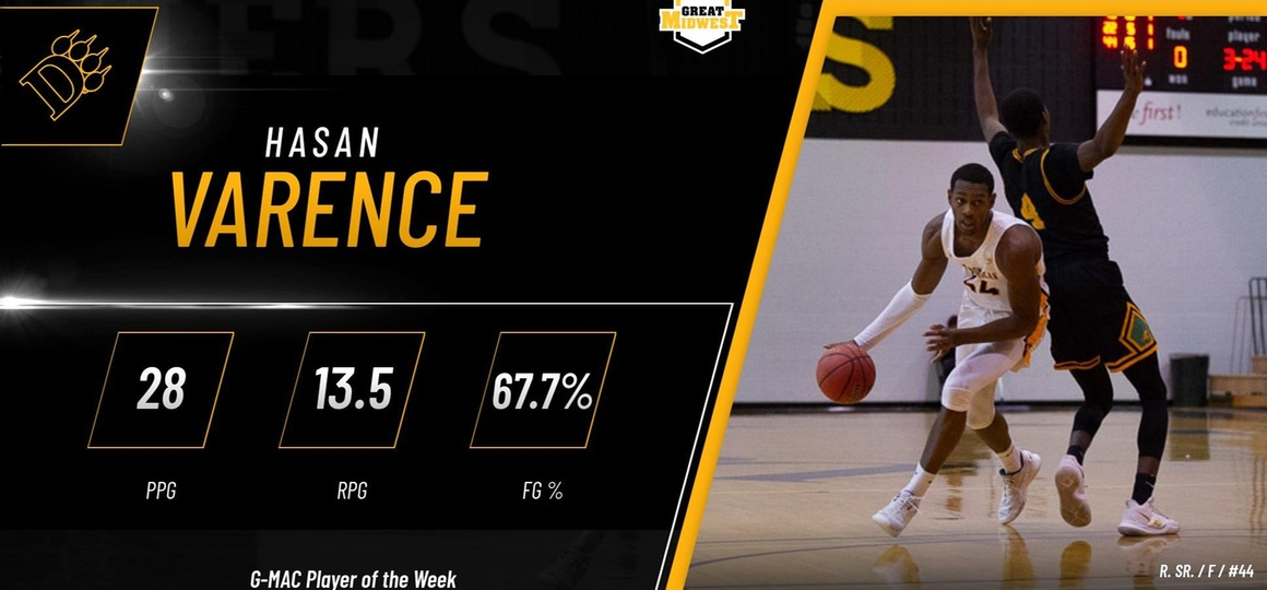 Varence Named G-MAC Player of the Week