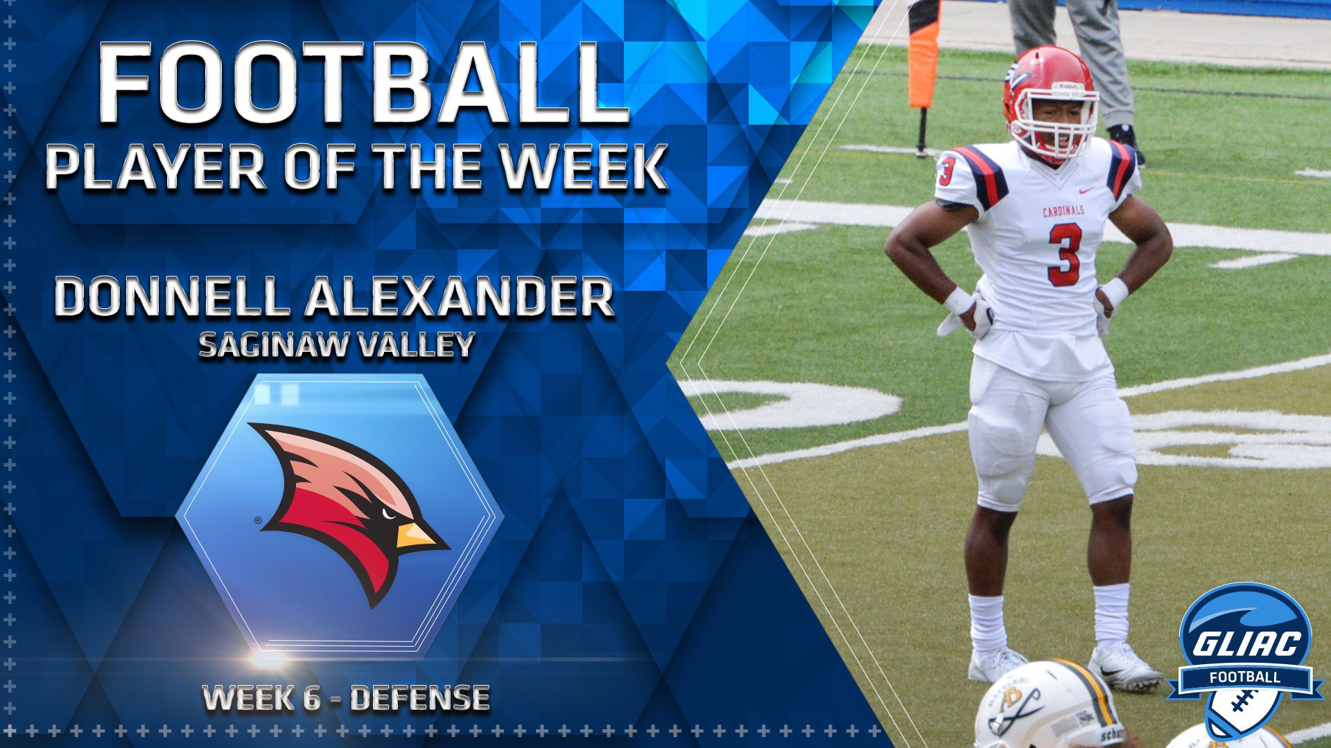 Donnell Alexander Named GLIAC Defensive Player of the Week