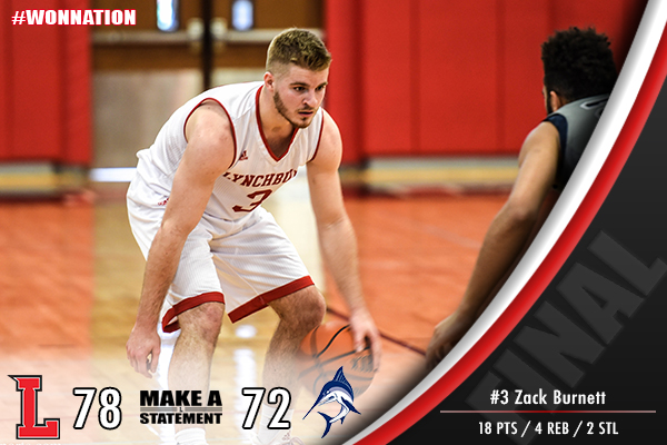 Men's Basketball Hangs On and Takes Down The Marlins, 78-72