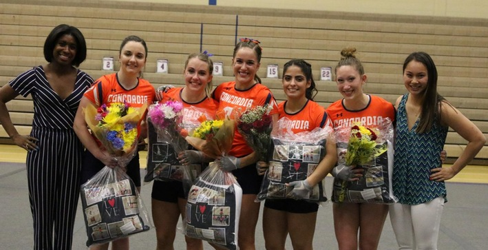Acrobatics and Tumbling closes season with Senior Day win