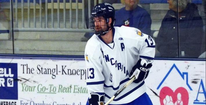 Men's Hockey scores three power-play goals, falls at No. 4/6 Adrian