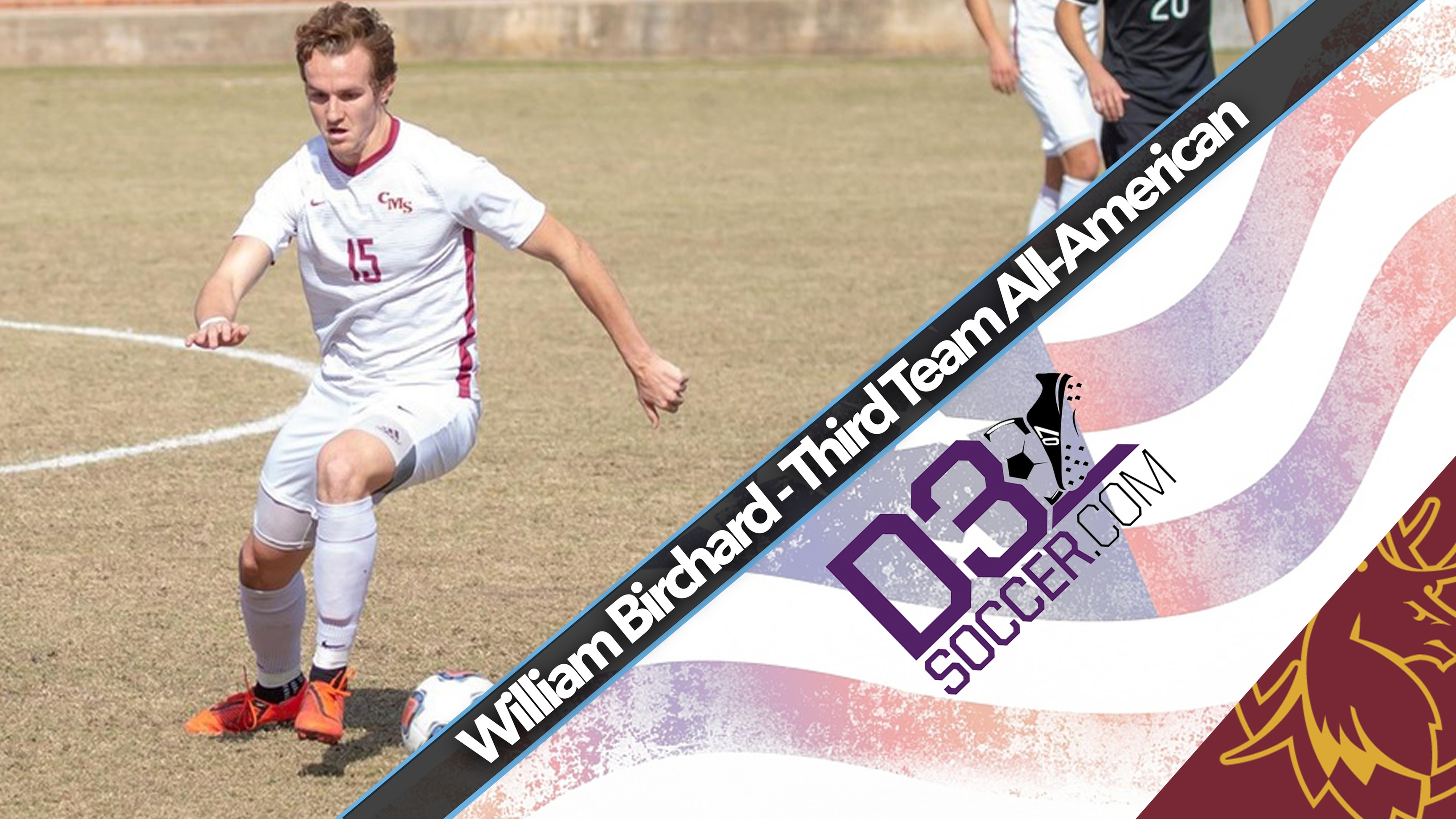 CMS: Birchard Named Third-Team All-American by D3soccer.com