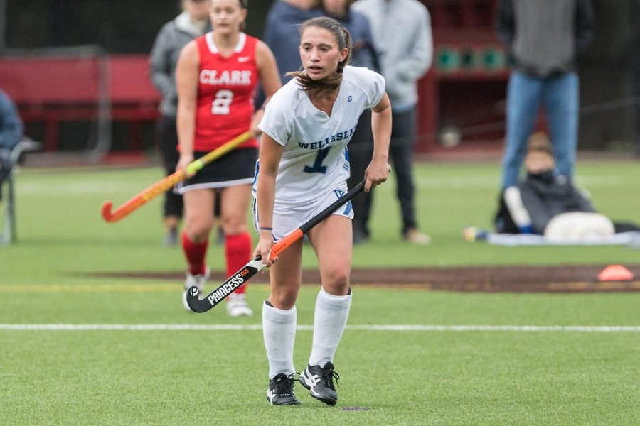 Sophomore Hannah Maisano scored a pair of goals to lead Wellesley to a 3-0 upset of Smith (Frank Poulin).