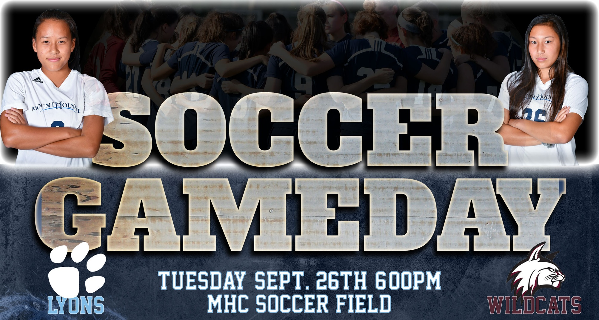 Bay Path Soccer Gameday Graphic