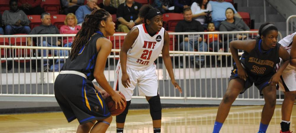 Eagle women fall to NWF State, playoff looms