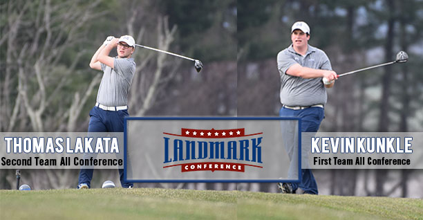 Kevin Kunkle '18 and Thomas Lakata '21 named to the 2018 Men's Golf Landmark All-Conference Teams.