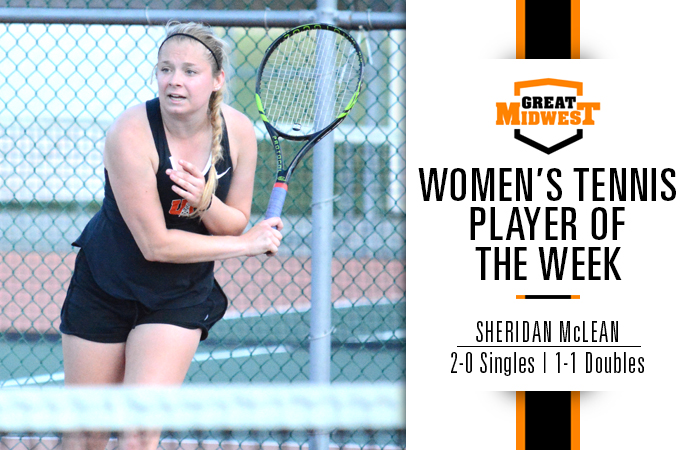 McLean Named Great Midwest Player of the Week
