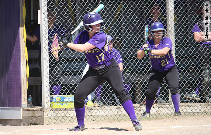 Softball downs regional power Southern New Hampshire, 5-4, wins season series