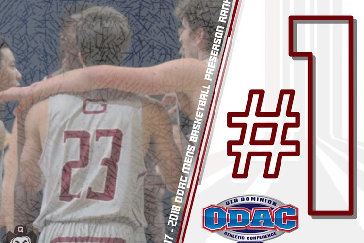 Guilford Picked First in ODAC Men's Basketball Poll