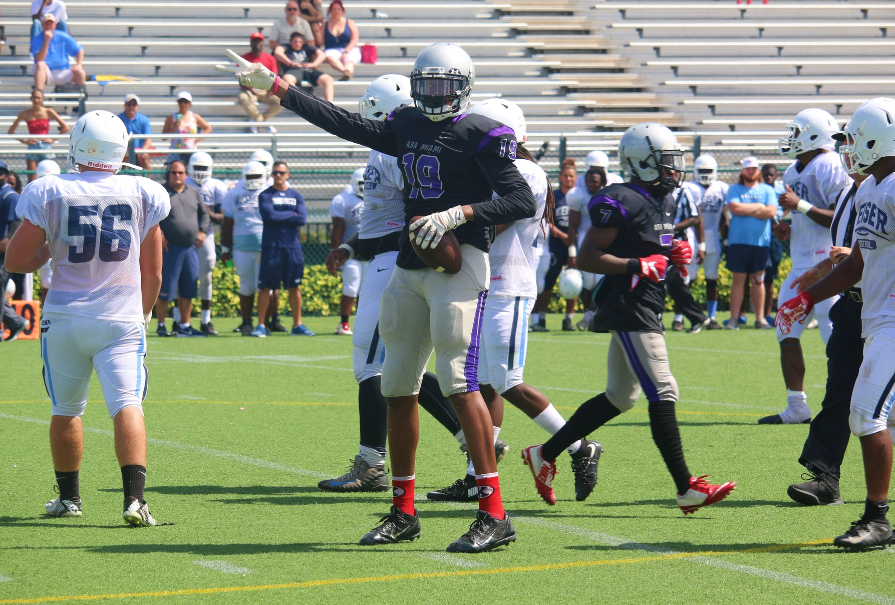ASA Miami Football Plays Keiser University In Fall Scrimmage