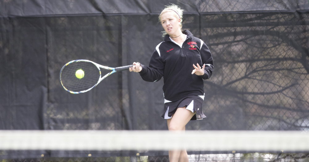 Women's Tennis Goes Over Goucher, 8-1