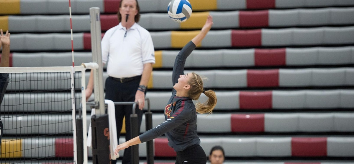 Phoebe Madsen started the year with a triple double in only three sets (photo by Robert Huskey)