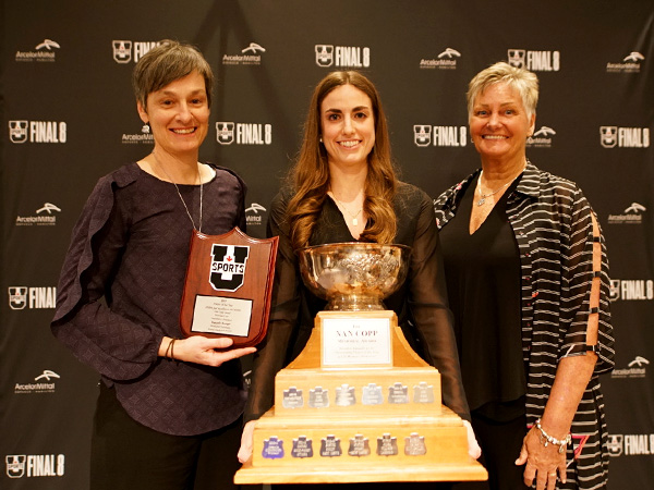 Danielle Boiago, a fifth-year guard from the McMaster Marauders, was named the 2017 U SPORTS Women's Basketball Player of the Year, Wednesday night.