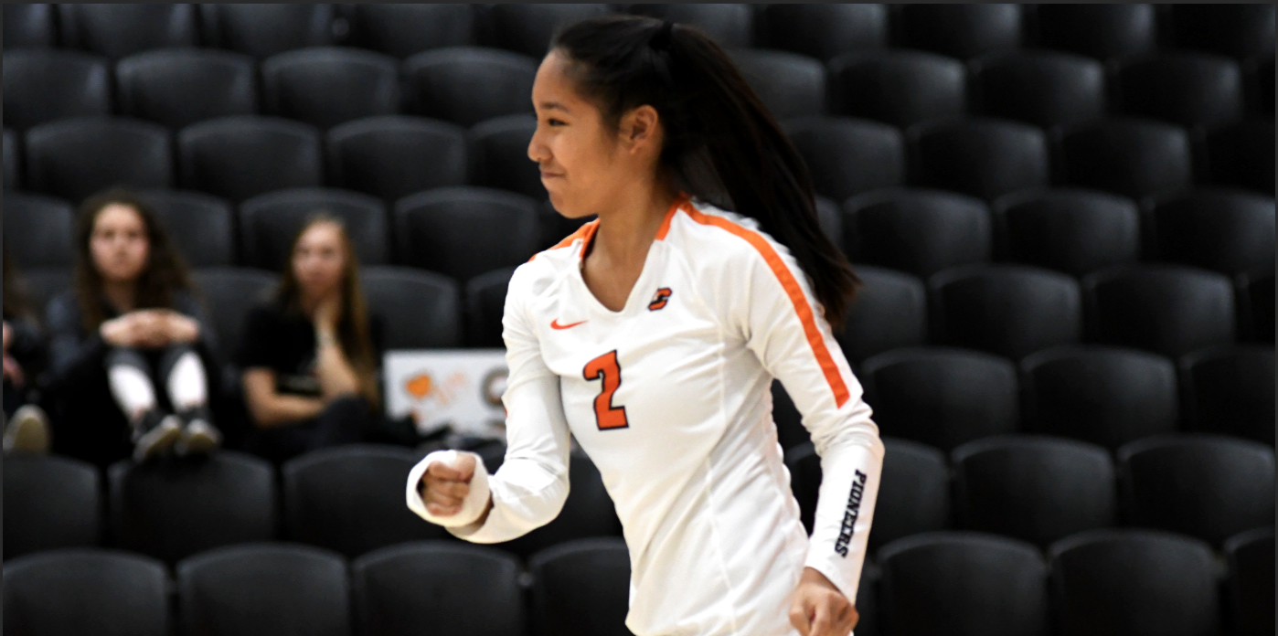 Pioneers drop three straight sets to George Fox