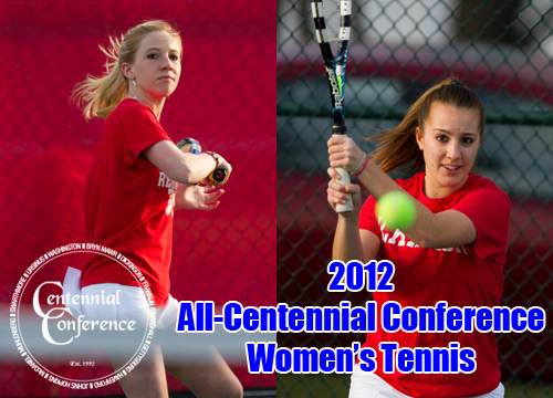Sophomore Shannon Lavery and junior Alysia Rodgers were named to the 2012 All-Centennial Conference Women's Tennis Team<BR>