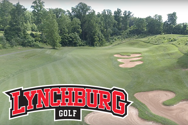 Photo of a golf course. Logo: Lynchburg golf